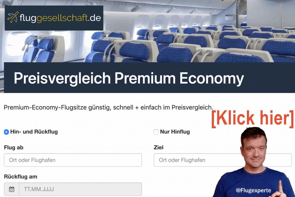 Premium Economy Flugsuche
